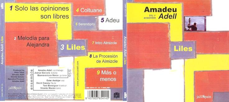CD-cover Amadeu Adell - Liles