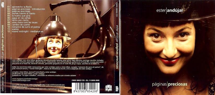 CD-cover Ester Andújar - Páginas Preciosas