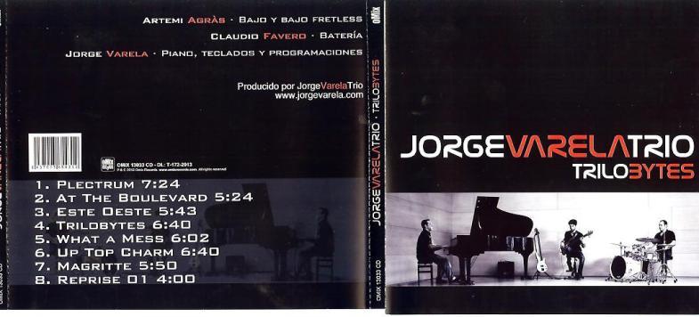CD-cover Jorge Varela Trio - Trilobytes